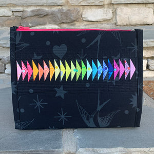 Custom Listing for S Rainbow Large Booklet Pouch