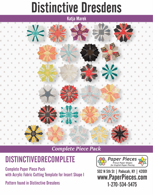 Distinctive Dresdens Complete Paper Piece Pack