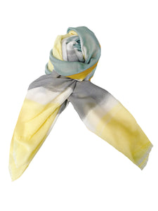 Block Scarf [Light Yellow]