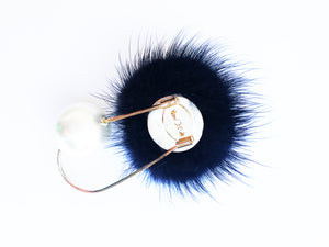Mink Brooch Pin [Black]