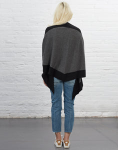 Renwick Shawl [Dark Grey and Black]