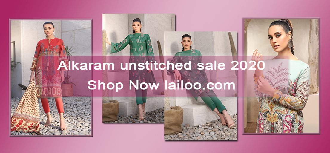 Alkaram unstitched sale 2020 for the summer season