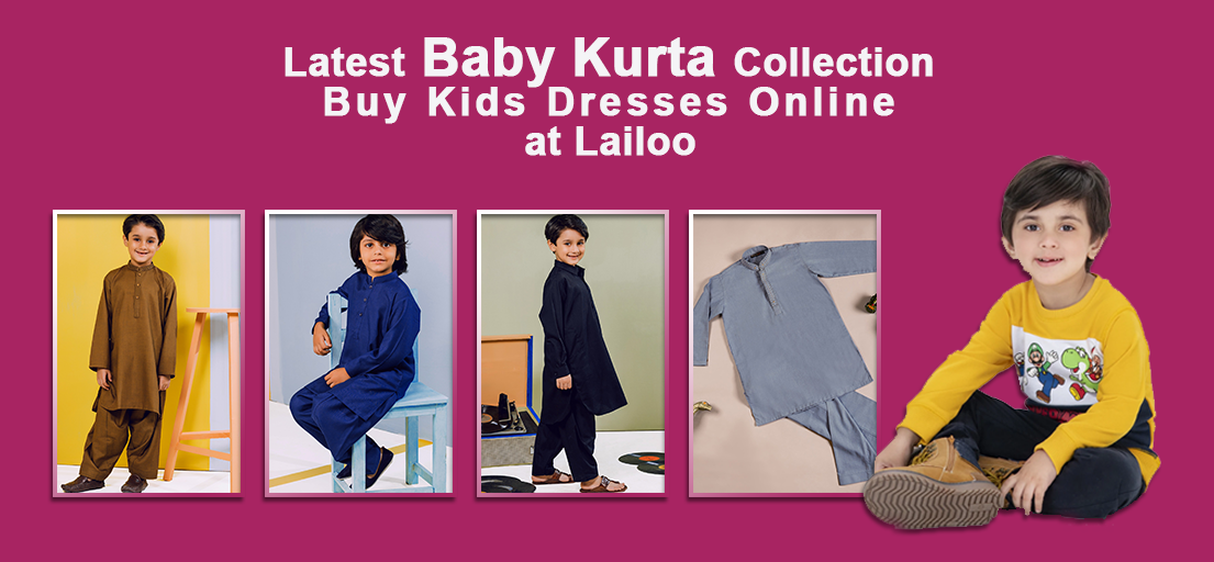 Baby Kurta Shalwar Suits Collection | Latest Kids Clothing Online
