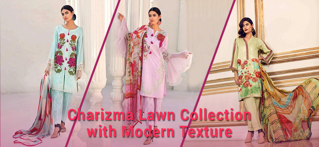Charizma lawn collection with modern texture