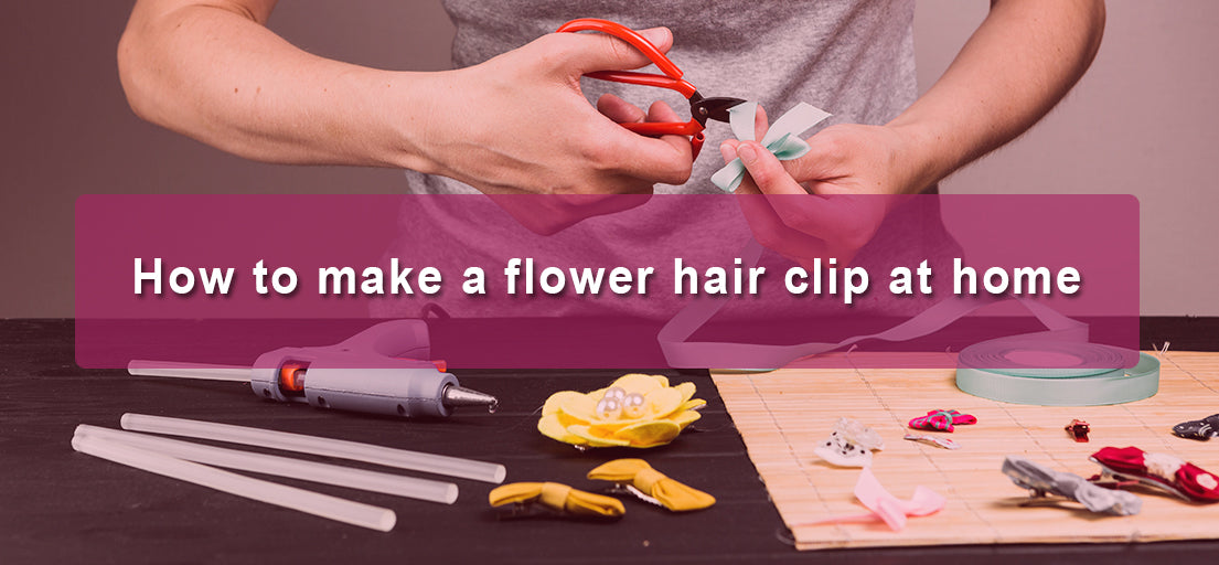 How to make a flower hair clip at home