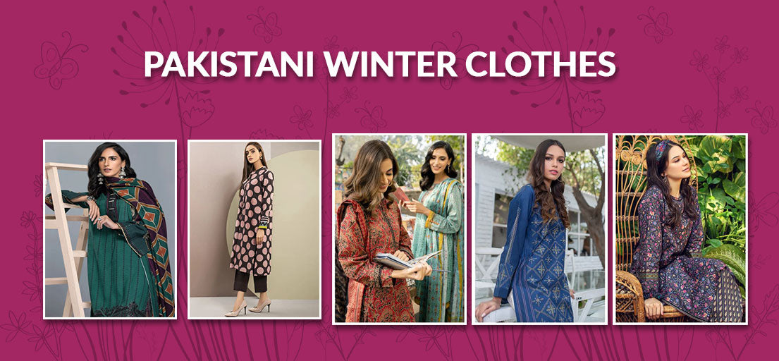 PAKISTANI WINTER CLOTHES |WINTER DRESSES FOR LADIES IN PAKISTAN