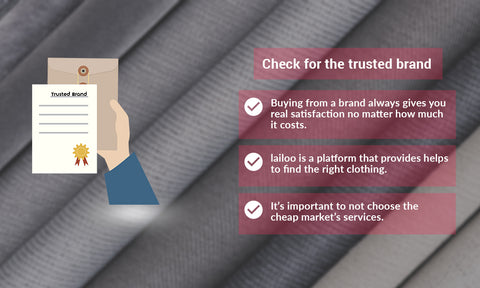 Check for the trusted Brand
