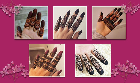 Young girls always adore Mehndi fingers designs for Eid