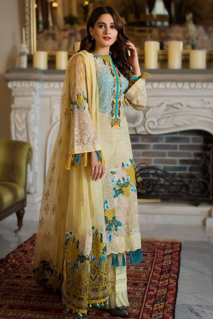 Ayesha Ibrahim Luxury Embroidered Chiffon'18 GODZE SKU: AILECC06