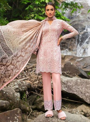 Zainab Chottani Luxury Lawn Collection'19 PASTEL POISE - A SKU: Design 8A