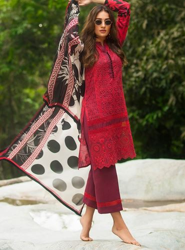 Zainab Chottani Luxury Lawn Collection'19 MEERAH SUKA - B SKU: Design 7B