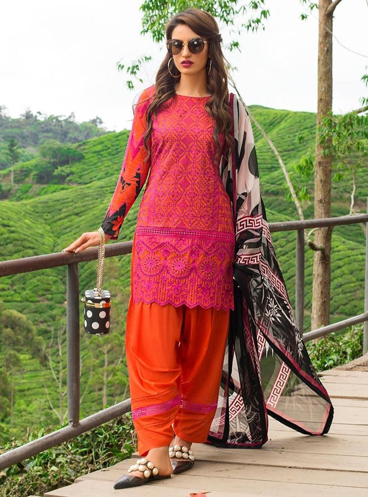Zainab Chottani Luxury Lawn Collection'19 MEERAH SUKA - A SKU: Design 7A