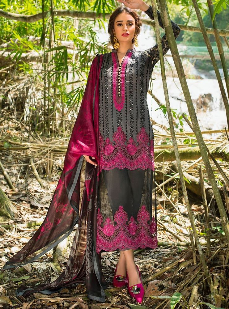 Zainab Chottani Luxury Lawn Collection'19 FOREST ORCHID - B SKU: Design 6B