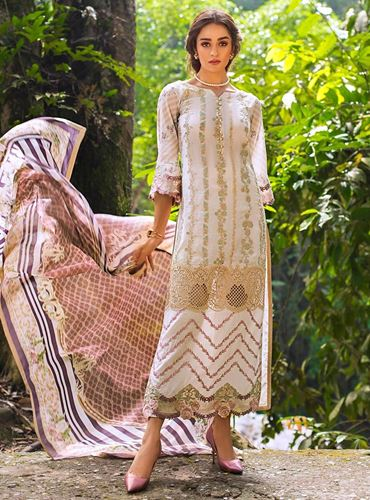 Zainab Chottani Luxury Lawn Collection'19 ENCHANTED ROSE - A SKU: Design 4A