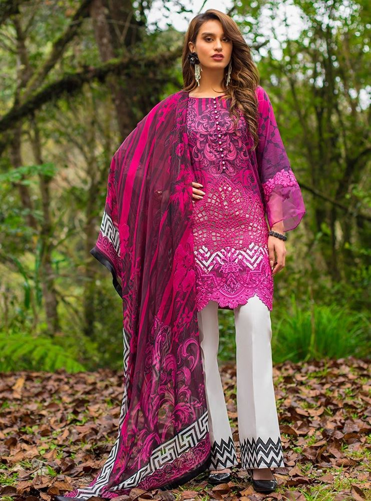 Zainab Chottani Luxury Lawn Collection'19 BLOOMING DALES - B SKU: Design 2B
