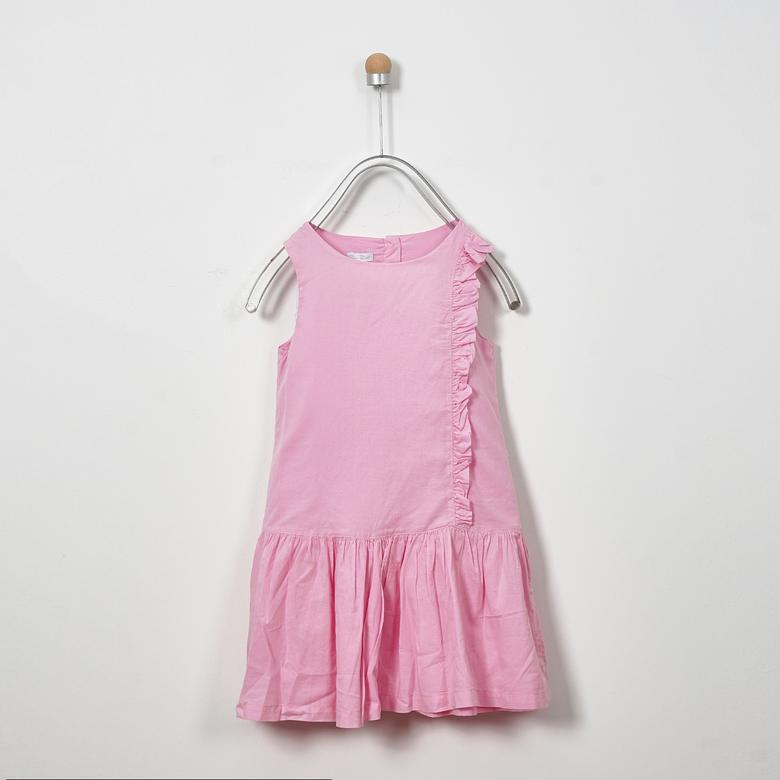 Pink Girl Dress | Soft Stripe | Panco