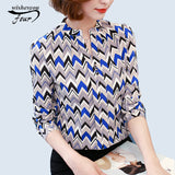 Tie Pattern Geometric Print Blouse for Official & Casual Use
