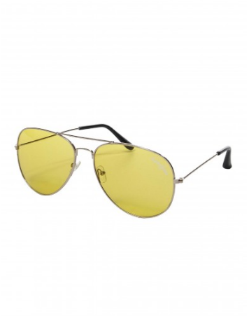 Classic aviator glasses Yellow