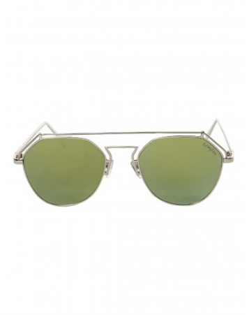 Aviator Design Glasses Green and Gold
