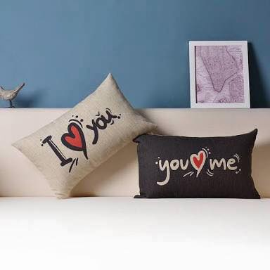 I love you - You love me pillow pair
