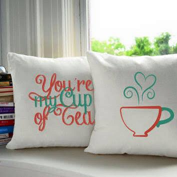 My  Cup of Tea Pillow Pair