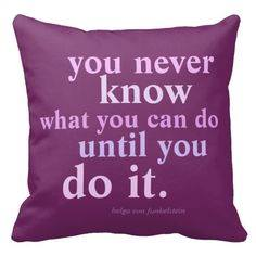 You Never Know pillow