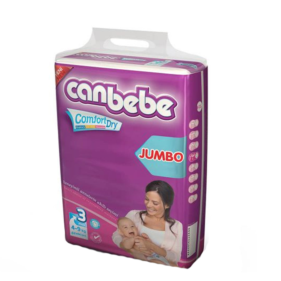 CANBEBE COMFORT DRY JUMBO PACK DIAPER SIZE 3