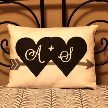 AS heart and Arrow Pillow