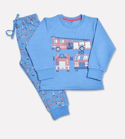 Minnie Minors Boys Fleece Night Suit NW-131-BLUE-7000000169442