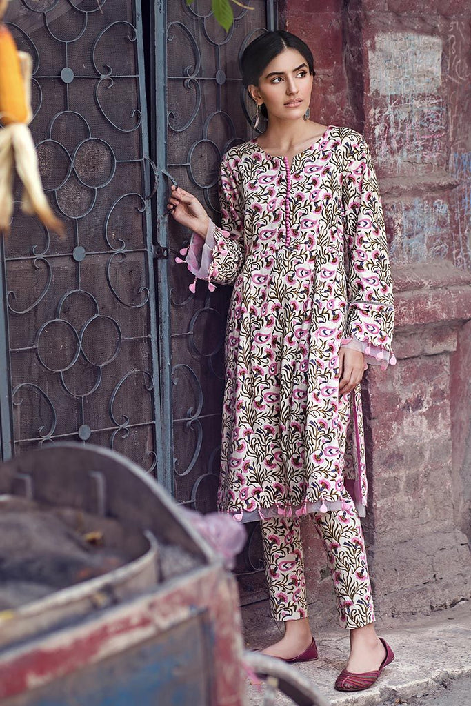 Gul Ahmed  Single Unstitched Printed Corduray Shirt SCD-04