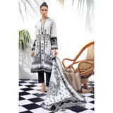 Gul Ahmed Black & White Collection'20 Suit BT-14