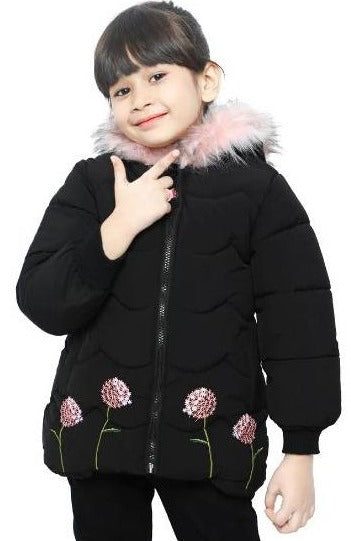 Diners Jackets For Girls In Black SKU: KGF-0110-BLACK