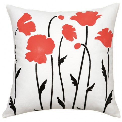Poppy Field Print Pillow