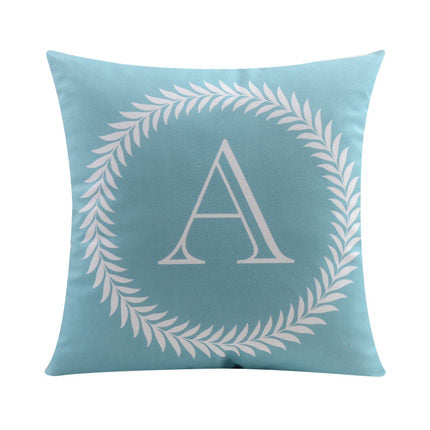 Letter A with circular Border print Pillow