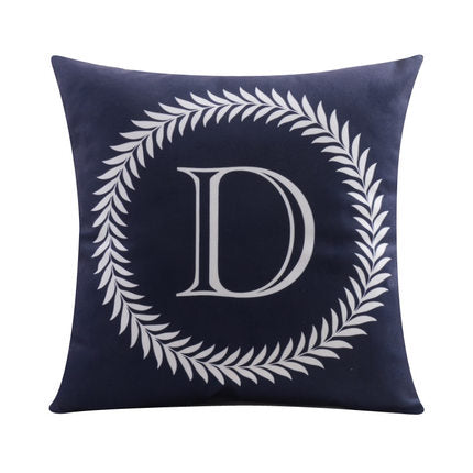 Letter D with circular Border print Pillow