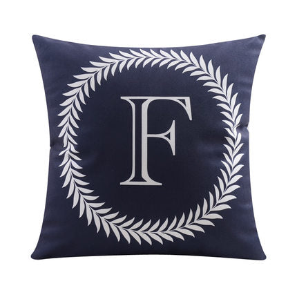 Letter F with circular Border print Pillow
