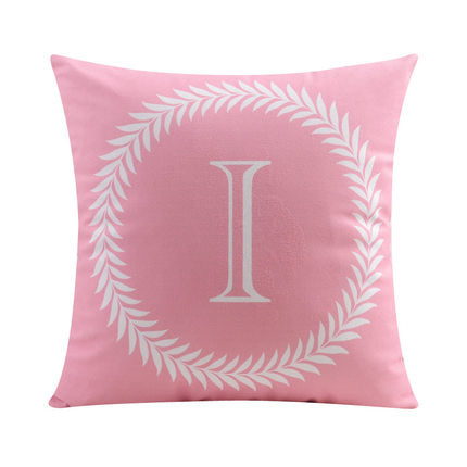 Letter I with circular Border print Pillow