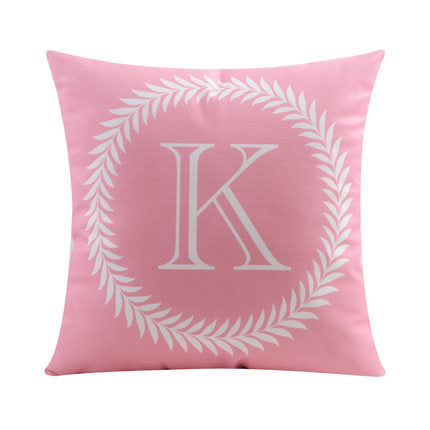Letter K with circular Border print Pillow
