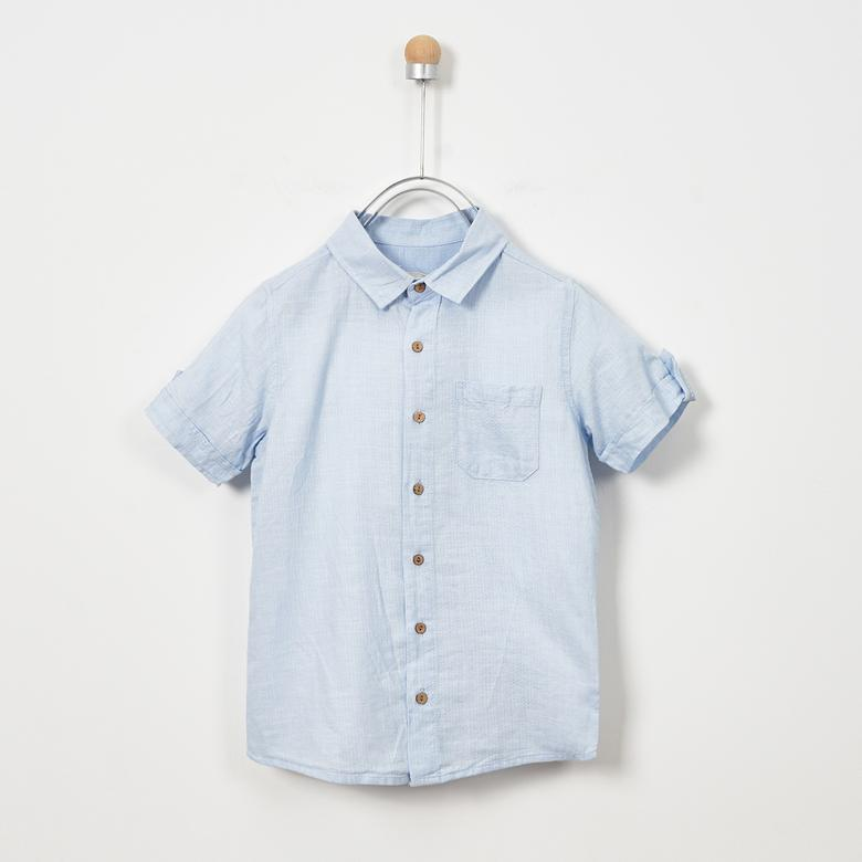 Boys' Short Sleeve Tops | Soft Blue | Panco