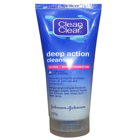 CLEAN & CLEAR DEEP ACTION CLEANSER 100 GMS