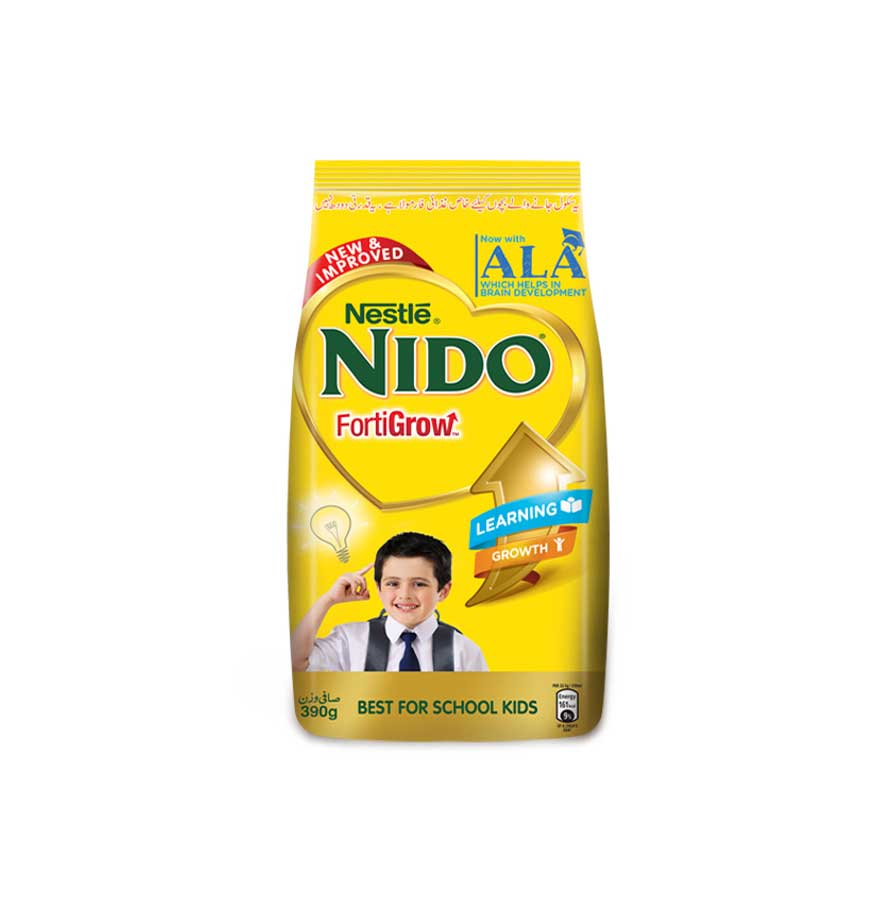 NESTLE NIDO FORTIGROW MILK POWDER 390 GMS