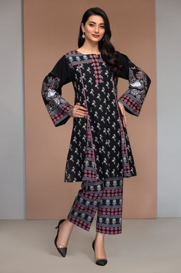Nishat Linen Winter Collection 42003649-Printed Embroidered Khaddar 2PC