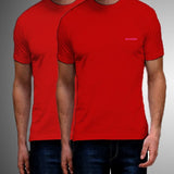 Pack Of 2 ƒ?? Cotton T-Shirt For Men (Red)