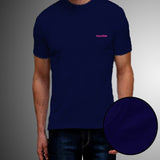 Pack Of 2 ƒ?? Cotton T-Shirt For Men (Navy Blue/ Red)