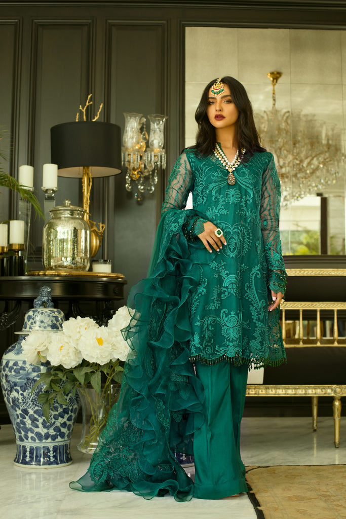 Mina Hasan Chiffon Embroidered Collection'2020 MHC-4