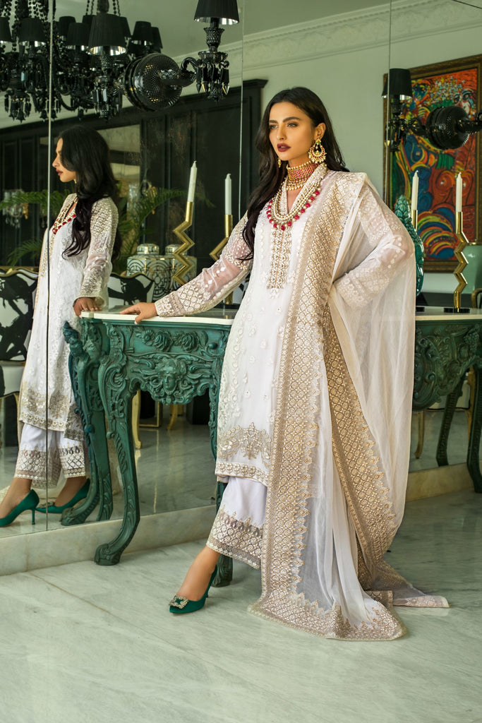 Mina Hasan Chiffon Embroidered Collection'2020 MHC-5