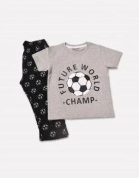 Minnie Minors Jersey Graphic T-Shirt With Printed Pyjamas NW-125-GREY-BLACK-7000000158757