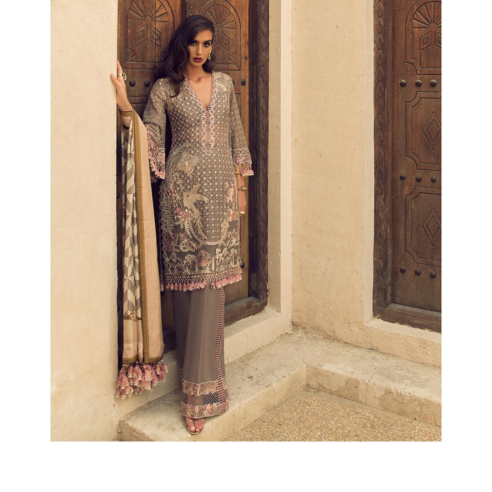 Faraz Manan Luxury Lawn Collection'19 FML 06