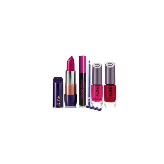 Oriflame CNB15023 - Oriflame Pack of 5 - The One Nail Polishes + Lipstick + Eyepencil + Mascara