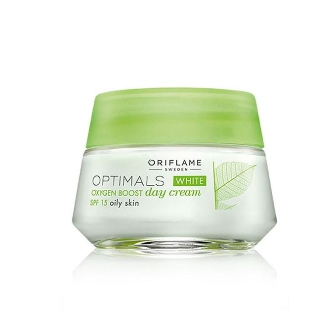CNB15024 Pack Of 2 Oriflame Optimals White Oxygen Boost Day & Night Cream Oily Skin